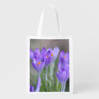 Crocuses Reusable Grocery Bag
