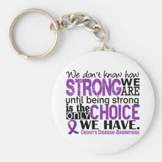 Crohn's Disease How Strong We Are Basic Round Button Keychain