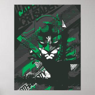 Croisé de Caped de Gotham Poster