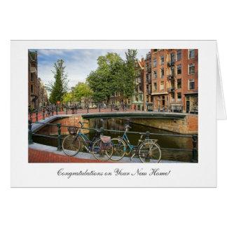 Croisement de canal - félicitations sur la carte de vœux