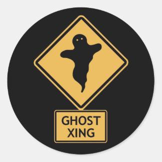 croisement de fantôme sticker rond