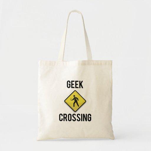 Croisement de geek sacs de toile