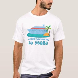 Croisière ensemble pendant 50 années de cadeau t-shirt