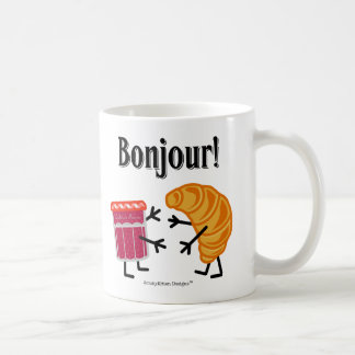 Croissant and Jam - Bonjour! Coffee Mug