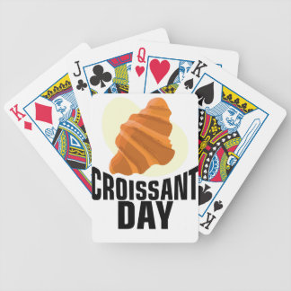 Croissant Day - Appreciation Day Bicycle Playing Cards