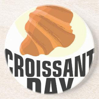 Croissant Day - Appreciation Day Coaster