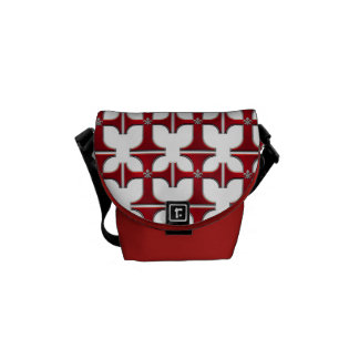 Croix avec fleur-De-lis - rouge Sacoche