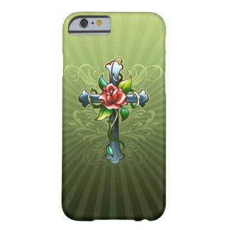 Croix avec une caisse rose de l'iPhone 6 de Thorne Coque Barely There iPhone 6