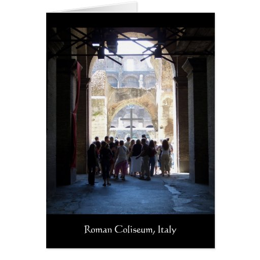 Croix dans le Colisé romain, Italie Cartes De Vœux