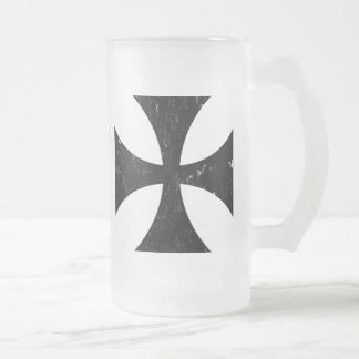 Croix de fer - Allemand/Deutschland Bundeswehr Frosted Glass Beer Mug