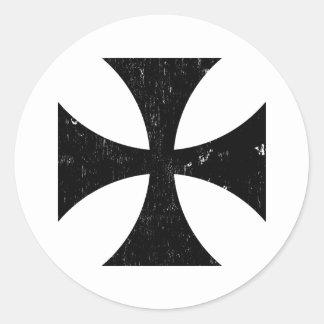 Croix de fer - Allemand/Deutschland Bundeswehr Sticker Rond