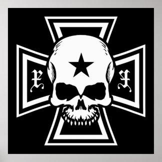 Croix de fer et affiche de crâne [noir]