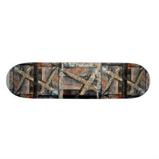 Croix de force plateaux de skateboards