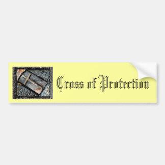 Croix de la protection autocollant de voiture