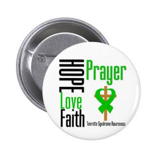 Croix de prière de foi d amour d espoir de syndrom pin's avec agrafe