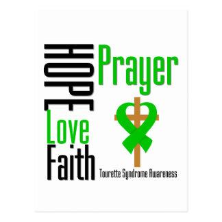 Croix de prière de foi d'amour d'espoir de cartes postales