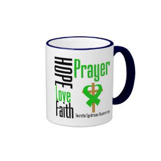 Croix de prière de foi d'amour d'espoir de syndrom tasse à café