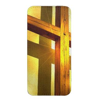 Croix d'or pochette pour iPhone