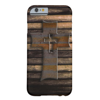 Croix en bois coque iPhone 6 barely there