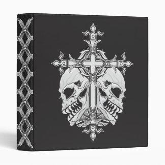 Croix et crânes gothiques classeur 3 anneaux