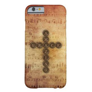 Croix extraordinaire de grâce sur la musique de coque iPhone 6 barely there