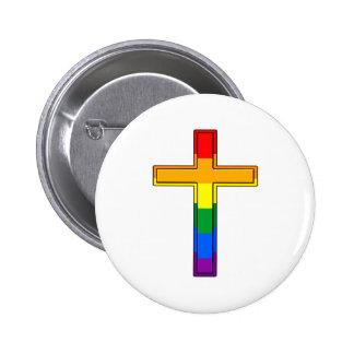 Croix gaie badge avec épingle