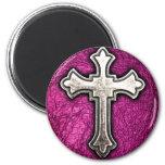 Croix rose magnets pour réfrigérateur