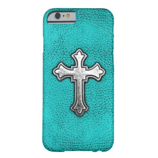 Croix turquoise en métal coque iPhone 6 barely there