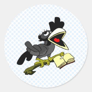 Crolinda Crow Classic Round Sticker
