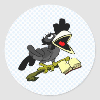 Crolinda Crow Round Sticker