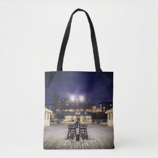 Cromer pier pavilion at night - Norfolk UK Tote Bag