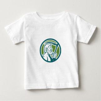 Cronus Holding Scythe Circle Retro Baby T-Shirt