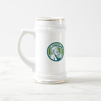 Cronus Holding Scythe Circle Retro Beer Stein