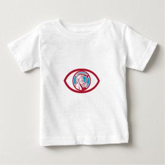 Cronus Holding Scythe Eye Retro Baby T-Shirt