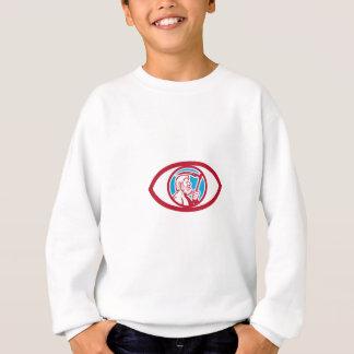 Cronus Holding Scythe Eye Retro Sweatshirt
