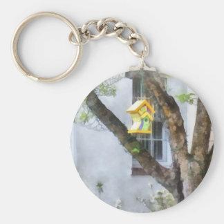 Crooked Bird House Key Chain