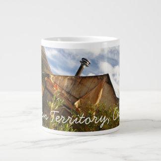 Crooked Cabin; Yukon Territory Souvenir Large Coffee Mug