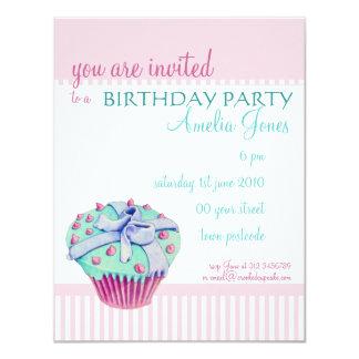 Crooked Cupcake Birthday Party Invitation