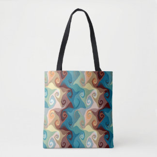 Crooked Curls Tote  Bag by Julie Everhart