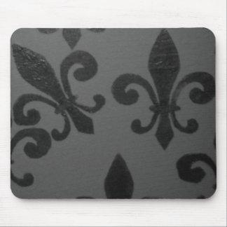 Crooked Fleur De Lis Mouse Pad