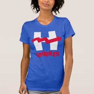 CROOKED H - - Anti-Hillary -- T-Shirt