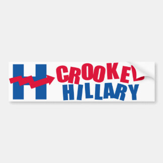 CROOKED HILLARY 2016 - -  BUMPER STICKER