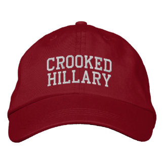 Crooked Hillary Elections 2016 Embroidered Hat