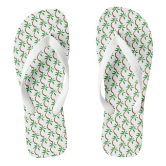Crooked Palm Tree Flip Flops
