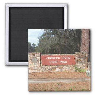 Crooked River Georgia State Park Entrance Sign Magnet