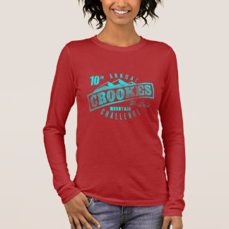 Crookes Mountain Challenge on Brown Long Sleeve T Long Sleeve T-Shirt