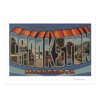Crookston, Minnesota - Large Letter Scenes Postcard