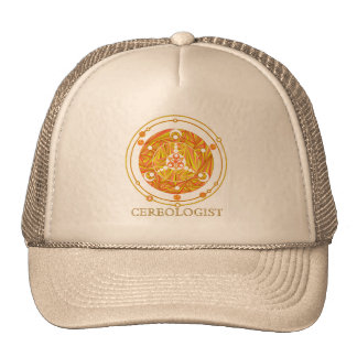 Crop Circle Art Cereologist Hat in Autumn Colors