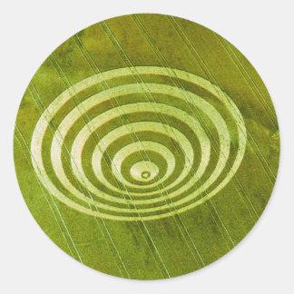 Crop Circle Cissbury Rings 1995 Classic Round Sticker