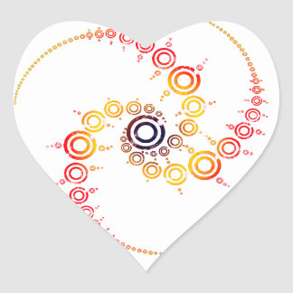 crop circle heart sticker